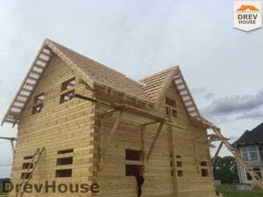 Строительство дома из бруса в поселке Мансурово   фаза 29