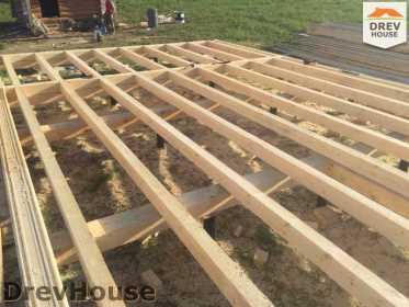 Строительство дома из бруса в поселке Мансурово   фаза 3