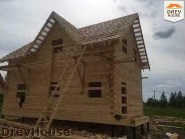 Строительство дома из бруса в поселке Мансурово   фаза 30