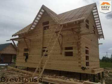Строительство дома из бруса в поселке Мансурово   фаза 31