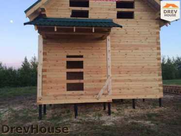 Строительство дома из бруса в поселке Мансурово   фаза 32