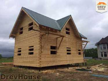 Строительство дома из бруса в поселке Мансурово   фаза 33