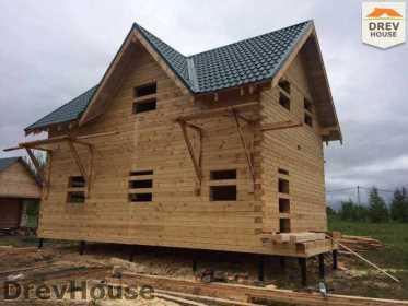 Строительство дома из бруса в поселке Мансурово   фаза 34