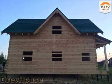 Строительство дома из бруса в поселке Мансурово   фаза 35