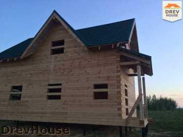 Строительство дома из бруса в поселке Мансурово   фаза 36