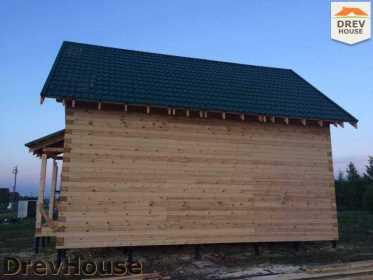 Строительство дома из бруса в поселке Мансурово   фаза 37