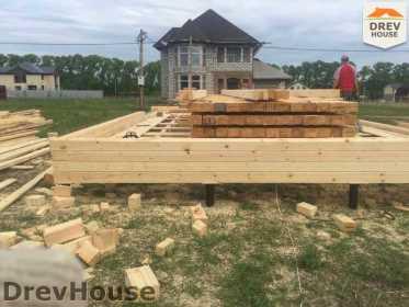 Строительство дома из бруса в поселке Мансурово   фаза 4