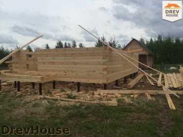 Строительство дома из бруса в поселке Мансурово   фаза 5