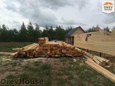 Строительство дома из бруса в поселке Мансурово   фаза 6