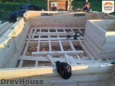 Строительство дома из бруса в поселке Мансурово   фаза 7