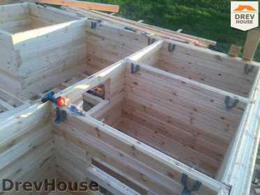 Строительство дома из бруса в поселке Мансурово   фаза 8