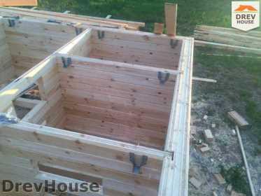 Строительство дома из бруса в поселке Мансурово   фаза 9