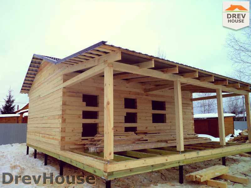 Фоторепортаж строительства дома из бруса в пос. Могутово, Нарофоминский р-н, МО