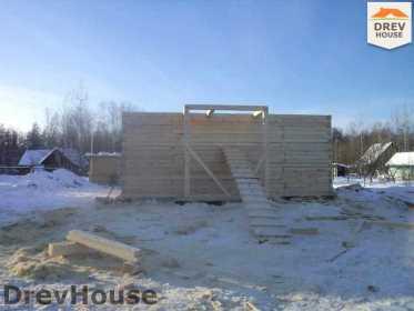 Строительство дома из бруса в поселке Нарцисс   фаза 1