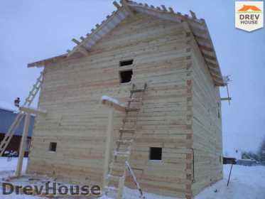 Строительство дома из бруса в поселке Нарцисс   фаза 2