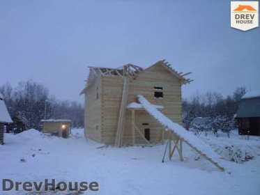 Строительство дома из бруса в поселке Нарцисс   фаза 3