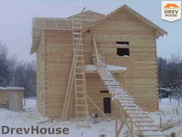 Строительство дома из бруса в поселке Нарцисс   фаза 4
