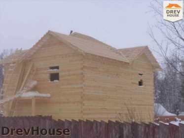 Строительство дома из бруса в поселке Нарцисс   фаза 6