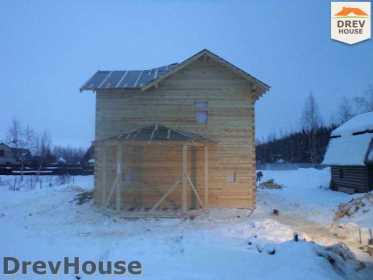 Строительство дома из бруса в поселке Нарцисс   фаза 7