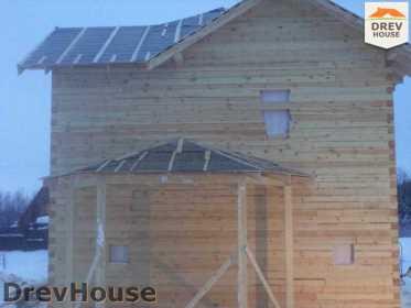 Строительство дома из бруса в поселке Нарцисс   фаза 8
