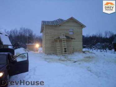 Строительство дома из бруса в поселке Нарцисс   фаза 9