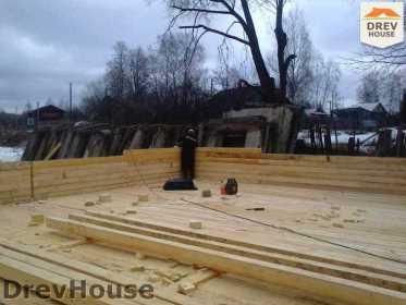 Строительство дома из бруса в поселке Строитель   фаза 1