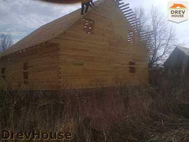 Строительство дома из бруса в поселке Строитель   фаза 10