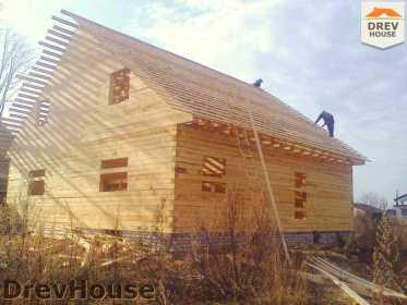Строительство дома из бруса в поселке Строитель   фаза 12