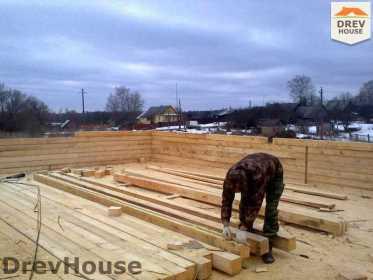 Строительство дома из бруса в поселке Строитель   фаза 2