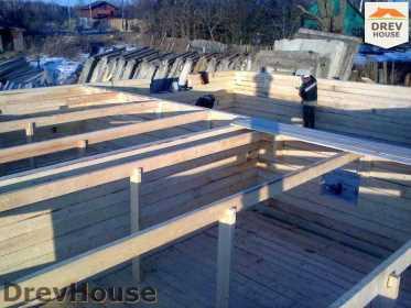 Строительство дома из бруса в поселке Строитель   фаза 4
