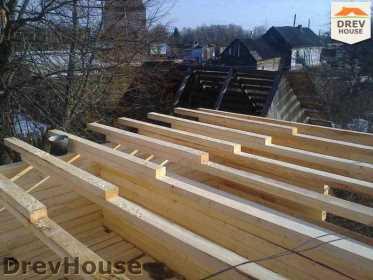 Строительство дома из бруса в поселке Строитель   фаза 5