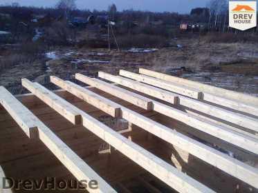 Строительство дома из бруса в поселке Строитель   фаза 6