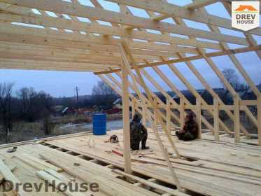 Строительство дома из бруса в поселке Строитель   фаза 7