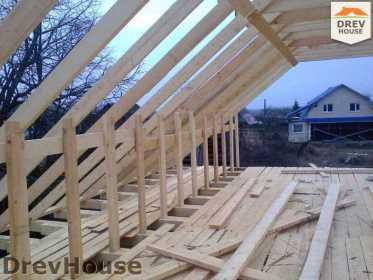 Строительство дома из бруса в поселке Строитель   фаза 8