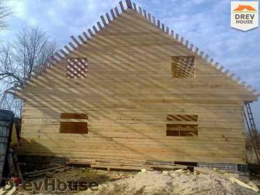 Строительство дома из бруса в поселке Строитель   фаза 9