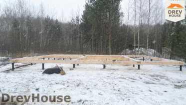 Строительство дома из бруса в поселке Вишневый сад   фаза 1