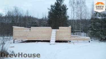 Строительство дома из бруса в поселке Вишневый сад   фаза 2