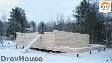 Строительство дома из бруса в поселке Вишневый сад   фаза 3