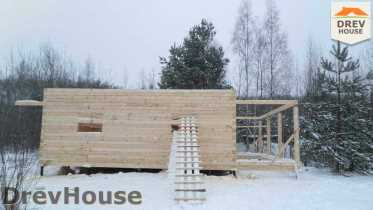 Строительство дома из бруса в поселке Вишневый сад   фаза 4