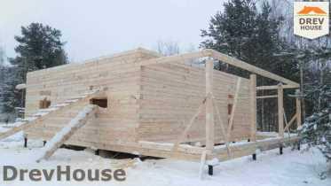 Строительство дома из бруса в поселке Вишневый сад   фаза 5