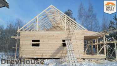 Строительство дома из бруса в поселке Вишневый сад   фаза 6