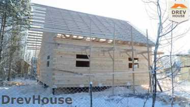 Строительство дома из бруса в поселке Вишневый сад   фаза 7
