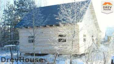 Строительство дома из бруса в поселке Вишневый сад   фаза 8