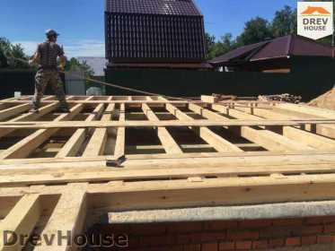 Строительство дома из бруса в поселке Яхромские зори   фаза 1