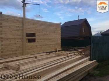 Строительство дома из бруса в поселке Яхромские зори   фаза 10
