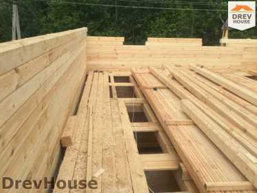 Строительство дома из бруса в поселке Яхромские зори   фаза 11