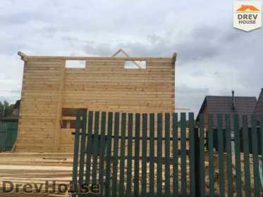 Строительство дома из бруса в поселке Яхромские зори   фаза 12