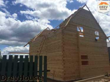 Строительство дома из бруса в поселке Яхромские зори   фаза 13