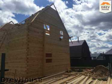 Строительство дома из бруса в поселке Яхромские зори   фаза 14