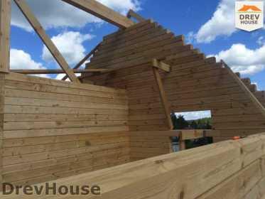 Строительство дома из бруса в поселке Яхромские зори   фаза 16